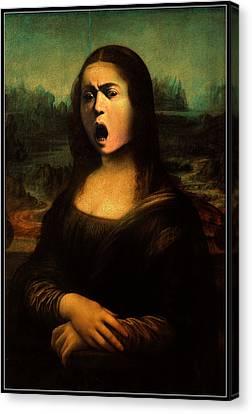 Caravaggio's Mona Canvas Print