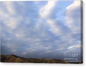 Carbon Canyon Hills And Big Sky Canvas Print by Viktor Savchenko