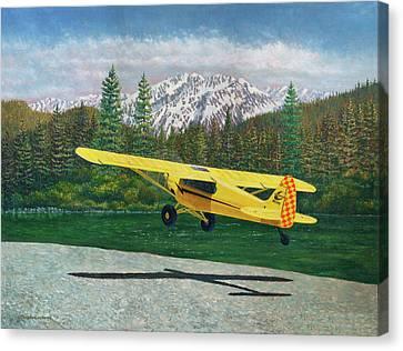 Carbon Cub Riverbank Takeoff Canvas Print