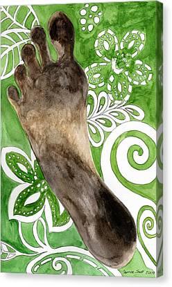 Carbon Footprint Canvas Print by Caprice Scott