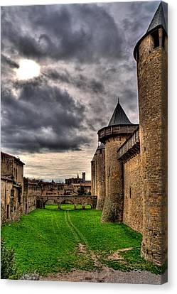 Carcassonne Castle Canvas Print by Gareth Davies