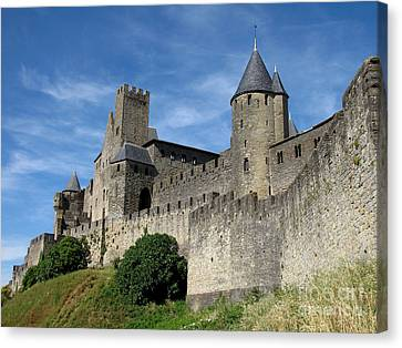 Canvas Print featuring the photograph Carcassonne France by Jacqi Elmslie