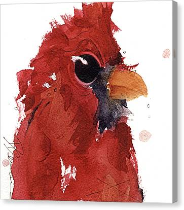 Canvas Print featuring the painting Cardinal by Dawn Derman