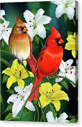 Cardinal Day 2 Canvas Print by JQ Licensing
