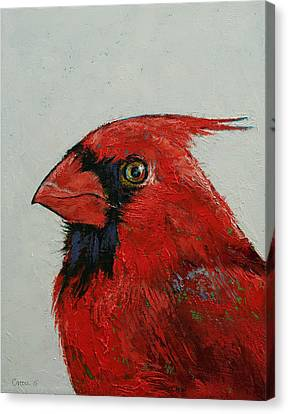 Bird Song Canvas Print - Cardinal by Michael Creese
