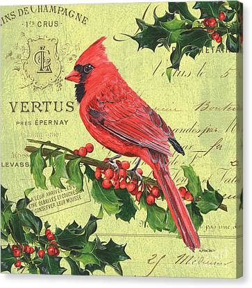 Cardinal Peace Canvas Print by Debbie DeWitt
