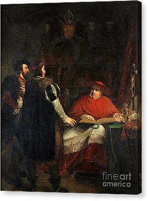 Cardinal Wolsey Refusing To Deliver Canvas Print by MotionAge Designs