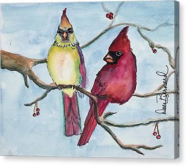Cardinals Canvas Print by Dale Bernard