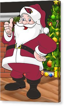 Cardinals Santa Claus Canvas Print by Joe Hamilton