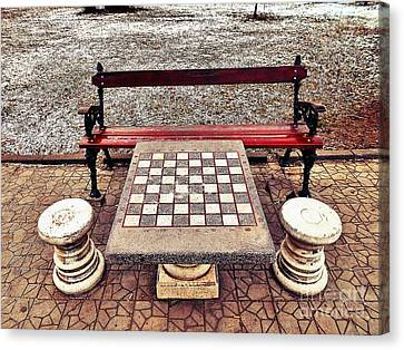 Care For A Game Of Chess? Canvas Print