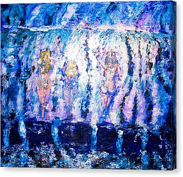 Canvas Print featuring the painting Carefree by Piety Dsilva