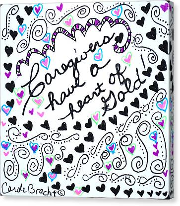 Caregiver Hearts Canvas Print by Carole Brecht
