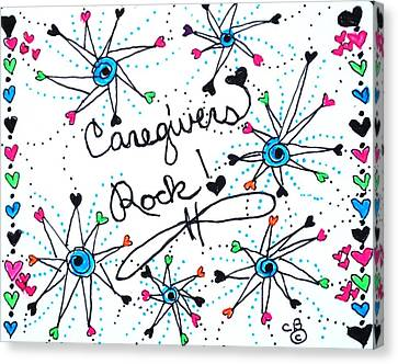 Caregivers Rock Canvas Print by Carole Brecht