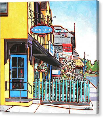Canvas Print featuring the painting Caren's Corner by Nadi Spencer