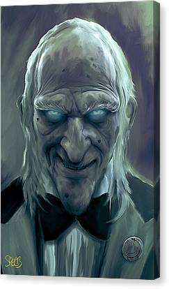 Caretaker Of Dracula's Castle Mark Spears Monsters Canvas Print by Mark Spears