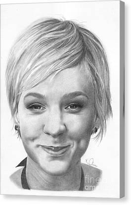 Carey Mulligan Canvas Print by Karen  Townsend