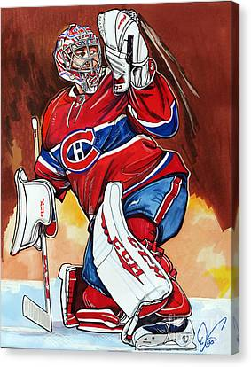 Carey Price Canvas Print by Dave Olsen