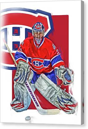 Carey Price Montreal Canadiens Oil Art Canvas Print by Joe Hamilton