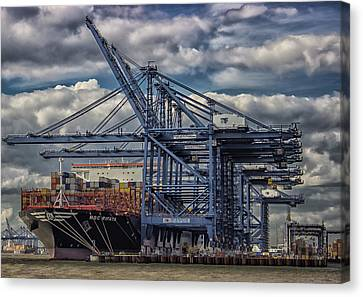 Docklands Canvas Print - Cargo Ship by Martin Newman