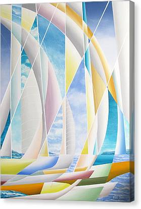Canvas Print featuring the painting Caribbean Afternoon by Douglas Pike