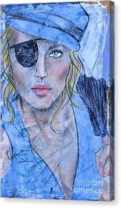 Caribbean Blue Canvas Print by P J Lewis