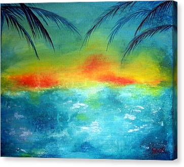 Caribbean Dreams Canvas Print by Shasta Miller