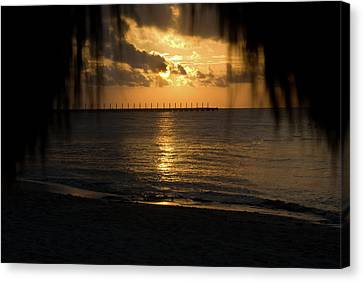 Caribbean Early Sunrise 5 Canvas Print by Douglas Barnett
