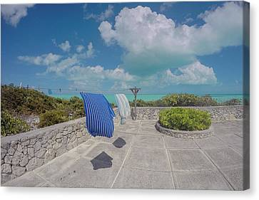 Clothes Line Canvas Print - Caribbean Lovely Day by Betsy Knapp