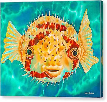Caribbean Puffer Canvas Print by Daniel Jean-Baptiste