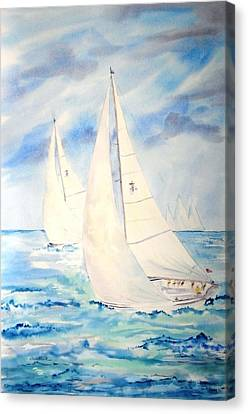 Caribbean Racing Canvas Print