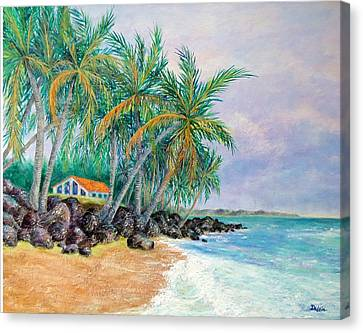 Canvas Print featuring the painting Caribbean Retreat by Susan DeLain