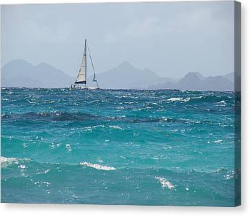 Canvas Print featuring the photograph Caribbean Sailing by Margaret Bobb