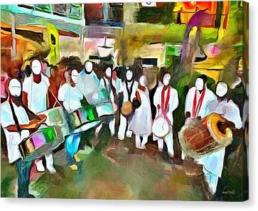Caribbean Scenes - Pan And Tassa Canvas Print