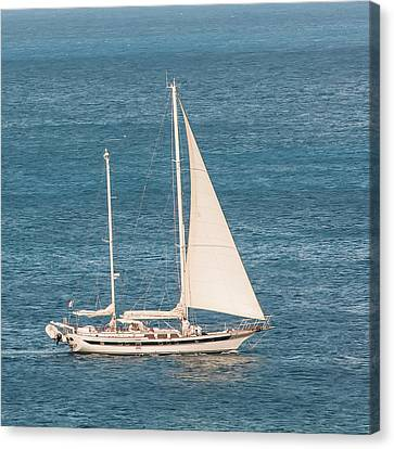 Canvas Print featuring the photograph Caribbean Scooner by Gary Slawsky