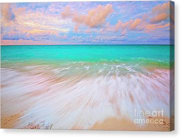 Caribbean Sea At High Tide Canvas Print by Charline Xia