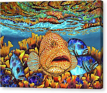 Caribbean Sea - Eden Canvas Print by Daniel Jean-Baptiste