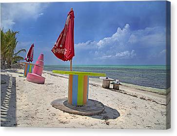 Caribbean Seaside Getaway Canvas Print by Betsy Knapp
