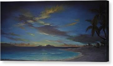 Caribbean Sunset By Alan Zawacki Canvas Print
