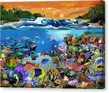 Caribbean Sunset Canvas Print by Gerald Newton