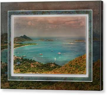 Canvas Print featuring the digital art Caribbean Symphony by Hanny Heim