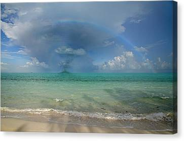 Storm Canvas Print - Caribbean Waterspout  by Betsy Knapp