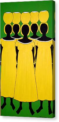 Canvas Print featuring the painting Caribbean Yellow by Stephanie Moore