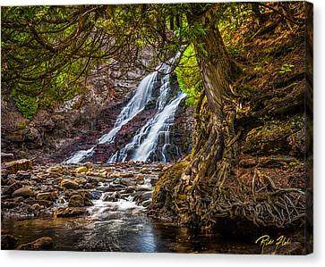 Canvas Print featuring the photograph Caribou Falls In Fall by Rikk Flohr