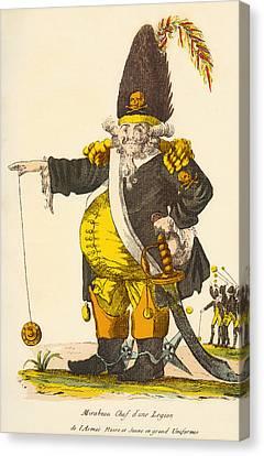 Caricature Of Andre Boniface Louis Canvas Print