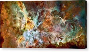 Carina Nebula Closer Canvas Print by Weston Westmoreland