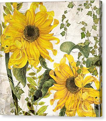 Carina Sunflowers Canvas Print by Mindy Sommers