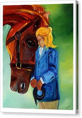 Caring Freind Canvas Print by Mrunal Limaye