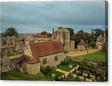 Carisbrooke Castle Isle Of Wight Canvas Print by Martin Newman