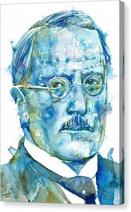 Carl Jung - Watercolor Portrait.6 Canvas Print by Fabrizio Cassetta