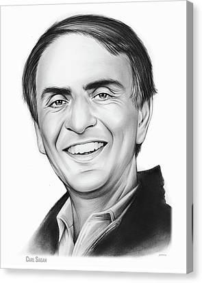 Carl Sagan Canvas Print by Greg Joens